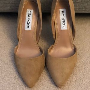 Steve Madden Varcitty Taupe Suede Pumps